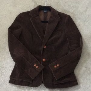 Brown Corduroy Blazer with Leather Buttons